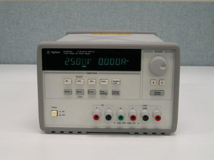 安捷倫 Agilent E3631A 80W,6V,5A&±25V,1A 三輸出電源供應器