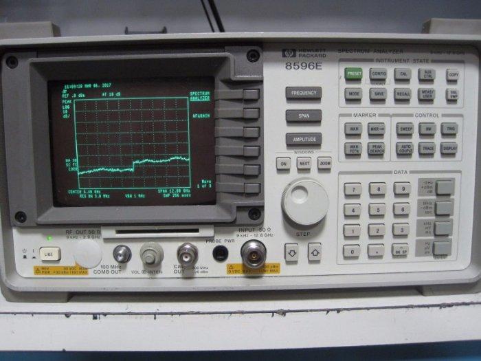 (繁體中文) Agilent/HP 8596E 9KHz-12.8G 頻譜分析儀