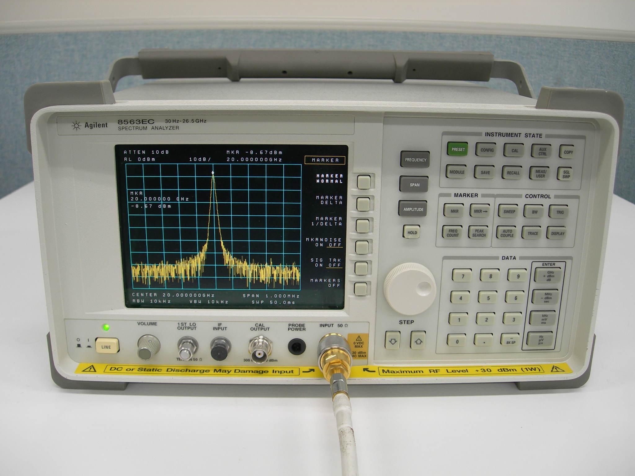 (繁體中文) Agilent 8563EC 9kHz-26.5GHz 可攜式頻譜分析儀