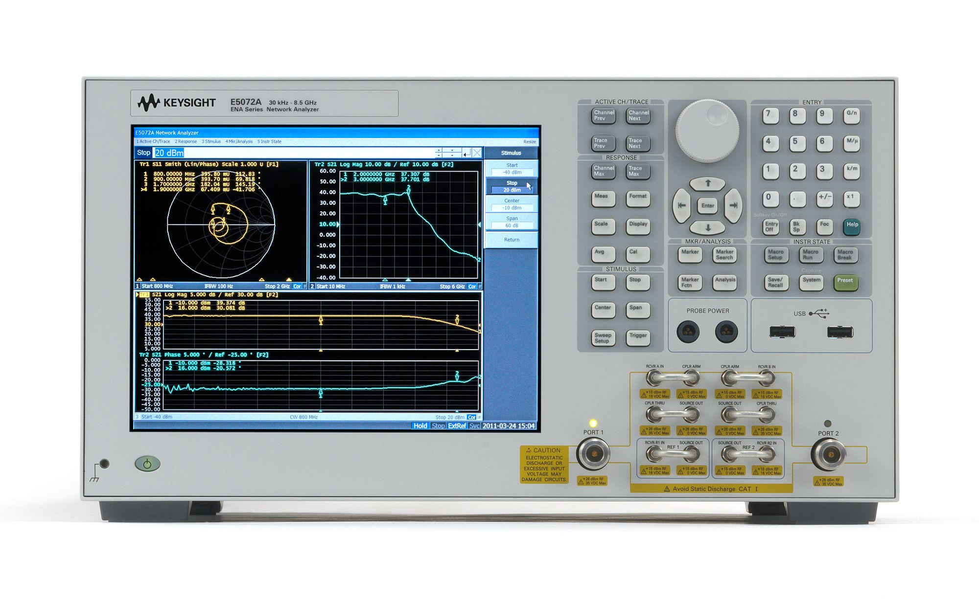 Agilent/HP  E5072A ENA 30kHz to 8.5 GHz Network analyzer