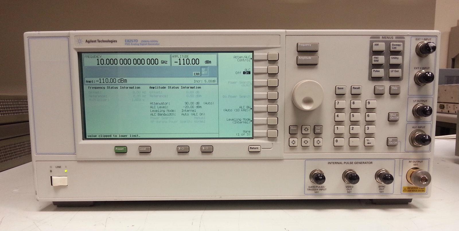 (繁體中文) Agilent/HP E8257D PSG Analogue Signal Generator